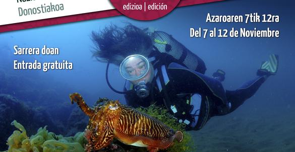 Cartel Ciclo Internacional de Cine Submarino de Donostia - San Sebastián - CIMASUB 2016